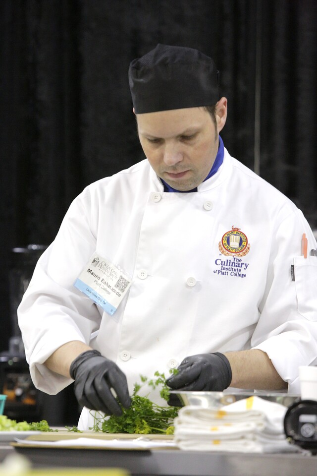 Chefs from Francis Tuttle and Platt Colege compete at the Oklahoma Resturaunt Association expo in Oklahoma City.