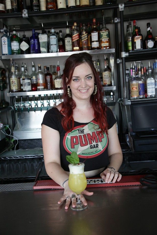 Megan Harris, a bartender at Pump Bar in Oklahoma City, will be competing in the bar tending competition at the Oklahoma Restaurant Association convention.