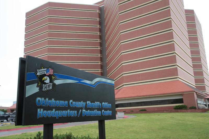 The Oklahoma County Jail at 201 N Shartel Ave. in Oklahoma City, OK.