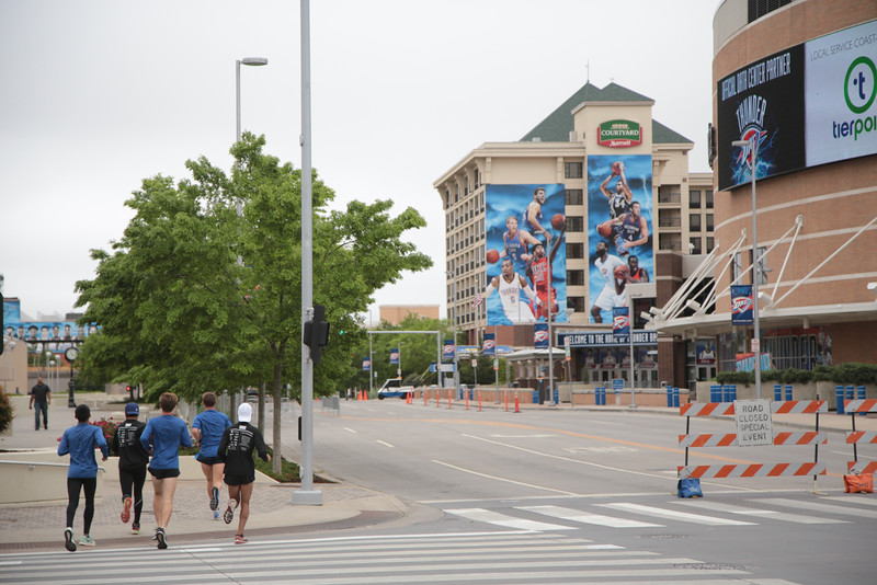 Downtown Oklahoma City will be host to the annual Memorial Marathon and The Oklahoma City Thunder during playoff season.