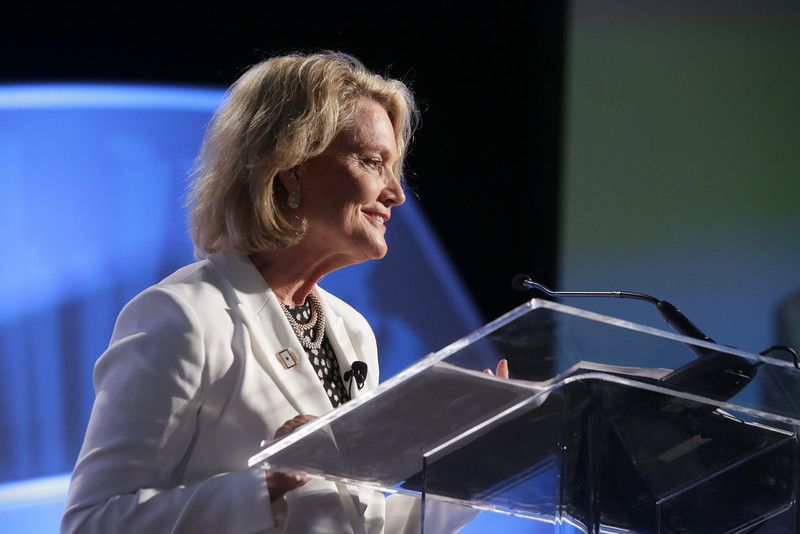 Jaynie Studenmund was the keynote speaker at Oklahoma City University's Women in Leadership Conference held at the Cox Convention Center in Oklahoma City, OK.