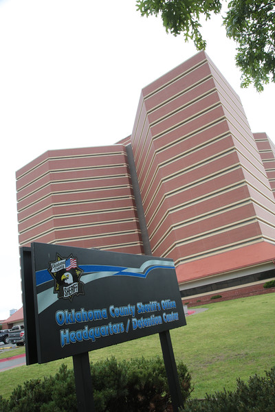 The Oklahoma County Jail at 201 N Shartel Ave. in Oklahoma City, OK.