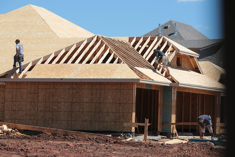 New home construction in the Belmar North neighborhood in Norman, OK.