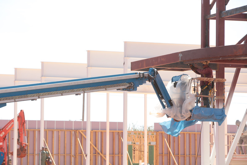 Construction if Chisholm Creek Apartments at Memorial Road and N Western Ave in Oklahoma City.