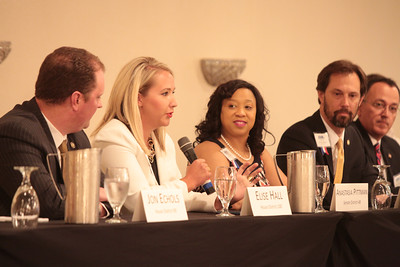 Oklahoma legislators held a panel discussion at the Northwest Oklahoma City Chamber of Commerce lunch at the Criwn Plaza Hotel.