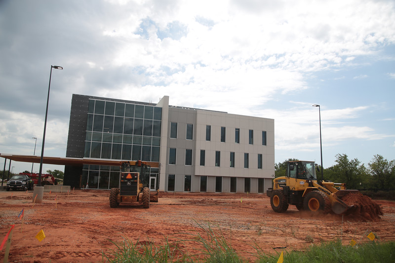 Construction at the Memorial Springs Medical Complex at Memorial Road and Santa Fe Ave in Oklahoma City.