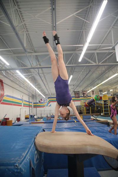 Students practicing at Dynamo Gymnastics at 7212 W Hefner Road in Oklahoma City.