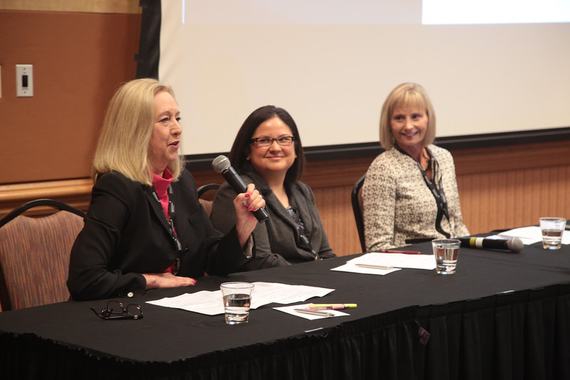 Cathy Tompkins, Diana Bittle and Cynthia Rolfe participated on a panal discusion on women in IT at the Oklahoma IT Symposium in Oklahoma City.