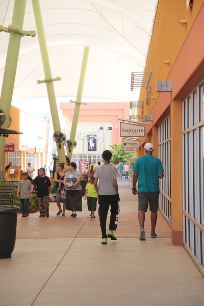 Shopping at the Outlet Shoppes of Oklahoma City.