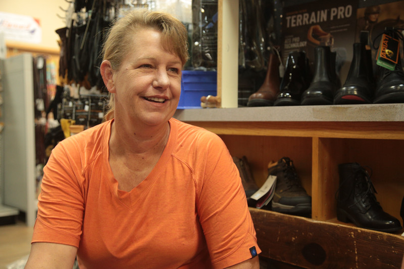 Zoe Midyett, owner of Red Earth Feed and Tack located at 2301 E I- 44 Service Road in Oklahoma City.