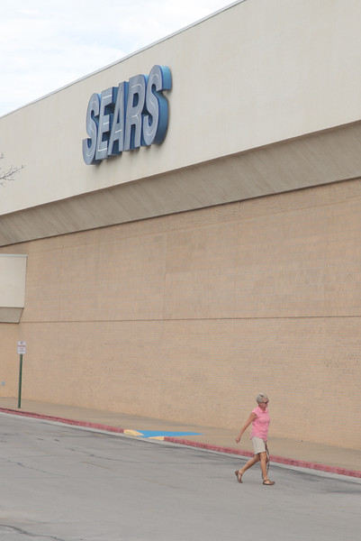 Sears is one if the last tenants at Hearitage Park Mall in Midwest City, OK.