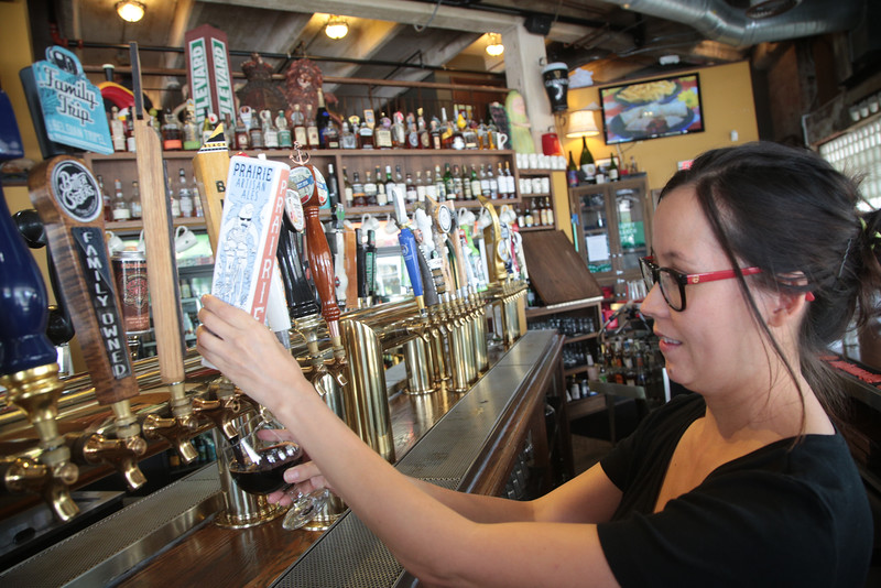 A Prarie Artisan Ale beer being poured at McNellies Pub in Oklahome City.