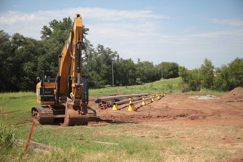 A pipeline being laid along Cemetary Road west of Tuttle, OK.