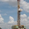 A drilling rig operated by Continental Resources on Highway 62 just west of Blanchard, OK.