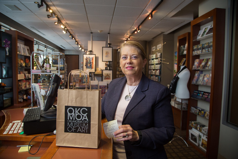 Assistant City Manager Laura Johnson  at the gift shop at the Oklahoma City Museum of Art in Oklahoma City, OK.