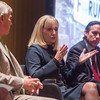 Cathy O'Conner, center, President of The Alliance for Economic Development of Oklahoma City, joined a forum hosted by the Greater Oklahoma City Chamber to discuss the Brookings Innovation District Study.