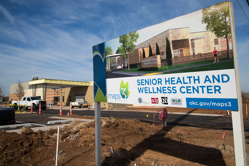 The Senior Health and Wellness Center under construction at NW 117th Street and Rockwell Ave in Oklahoma City.