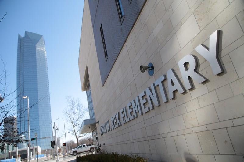 John Rex Elementry School, at 500 W Sheridan in Oklahoma City, OK, down the street from Devon Energy.