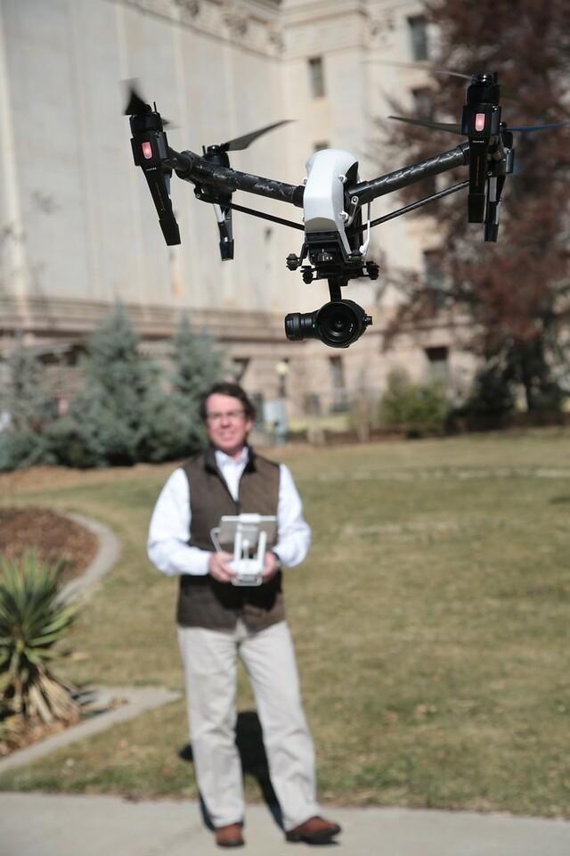 Tom Kilpatrick, owner of Oklahoma City-based CloudDeck Media at the Oklahoma State Capitol.