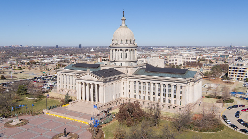 Arial photo of the Oklahoma State Capitol provided by Tom Kilpatrick, owner of Oklahoma City-based CloudDeck Media.