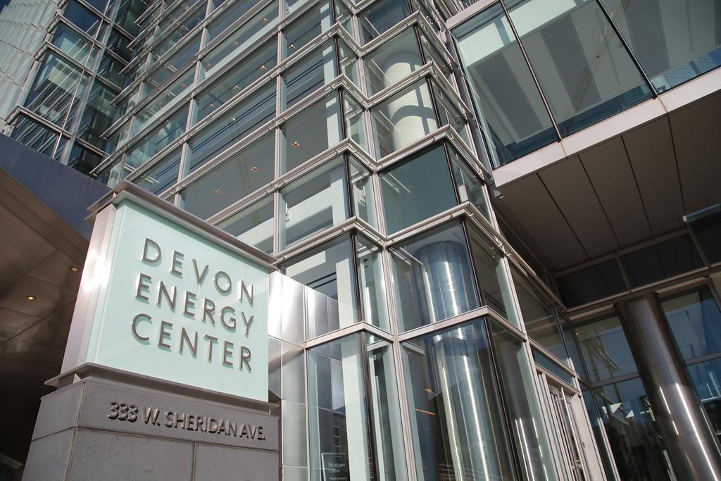 Devon Energy Center at 333 W Sheridan in Oklahoma City, OK.