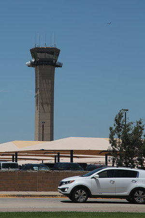The controll tower at Will Roger World Airport in Oklahoma City.