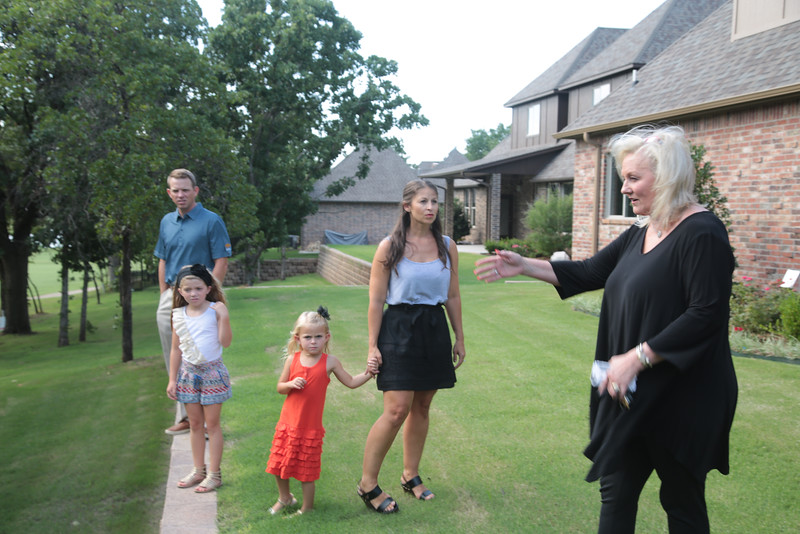 Marina Lloyd with 525 Realty shows a home for sale in the Fairfax Neighborhood in Edmond, OK.