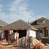 New homes under construction at NW 178th Street and Chisolm Creek Farm Ln in Edmond, OK.