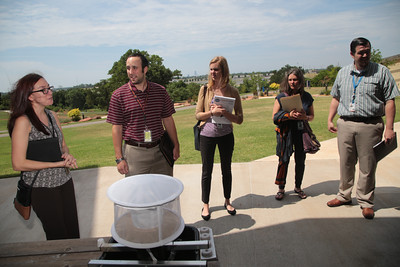 Employees from the Department of Environental Quality met with the Oklahoma City County Health Department to discuss mosquito trapping and the role discarded tires play in mosquito breeding.