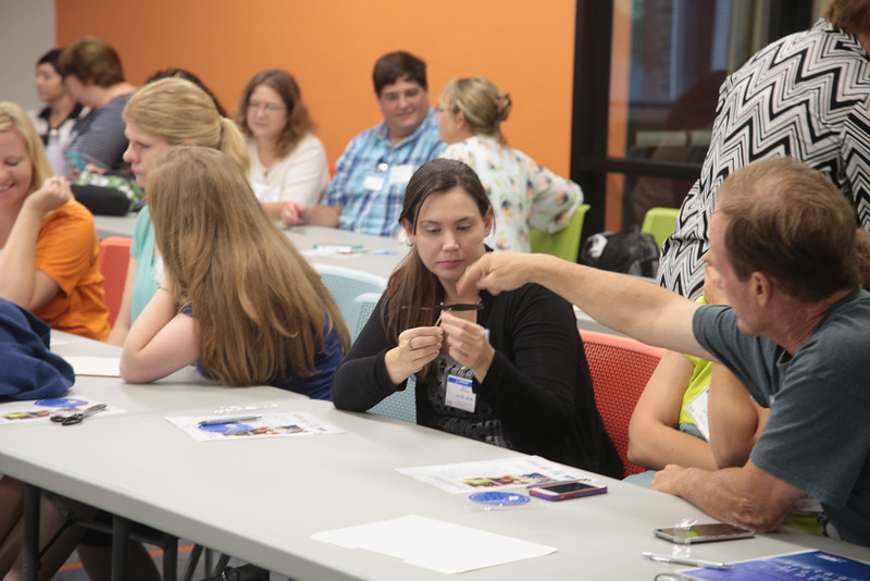 Teachers from all over the state participated in an education workshop at Boeing Company located at 6001 S Air Depot Blvd. in Oklahoma City, OK.