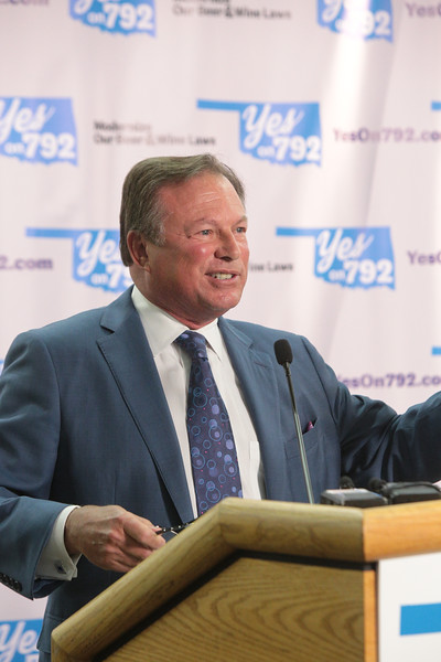 Jeff Reasor, chairman of the Yes on 792 campaign, speaks at a kick-off event Wednesday. The ballot question lets voters decide whether to update Oklahoma's alcohol laws to allow sales of wine and stronger, cold beer in stores like Reasor's.