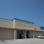 The former location of Homelan Grocery Store at N Santa Fe Road and 15th Street in Edmond, OK.
