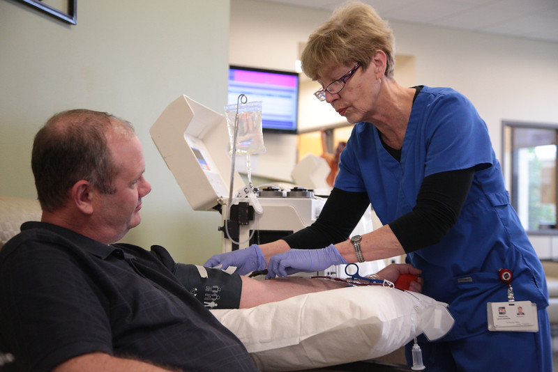 Robert Self donated blood at the Oklahoma Blood Institute located at 900 N Lincoln in Oklahoma City, OK.