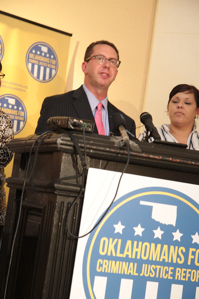 Okahoma's for Criminal Justice Reform turned in signatures for a ballot initiative to the Oklahoma Secutary of State.