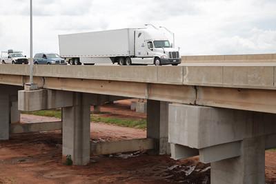 Interstate 44 crossing over the Belle Isle Bridge in Oklahoma City, OK.