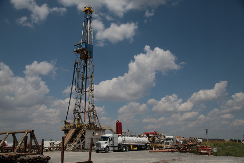 A drill run by Pay Rock Energy located on Darlington Road just north of El Reno, OK.