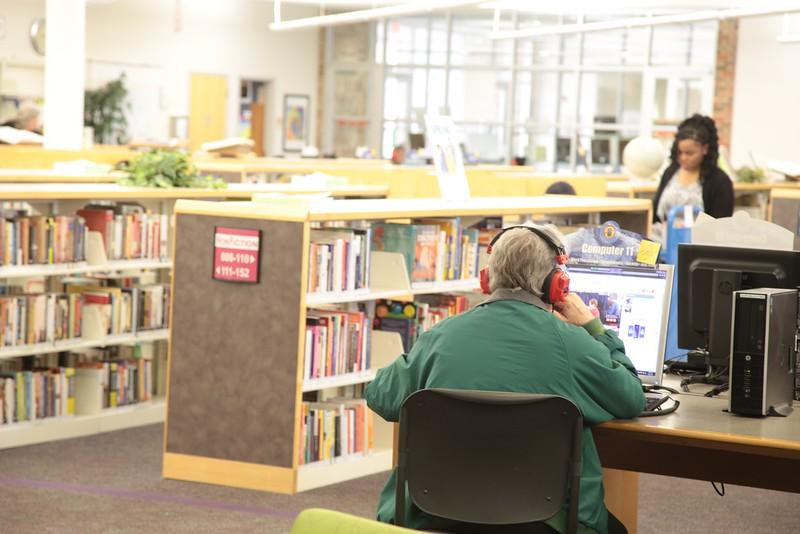 The Edmond Public Library located at 10 S. Boulavard in Edmond, OK.