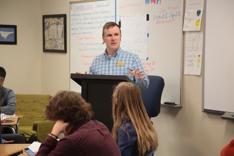 Jason Stephenson teaches creative writing at Deer Creek High Scool in Deer Creek, OK.