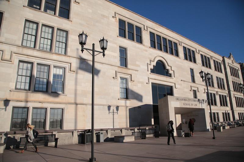 The Oklahoma City University School of Law located at 800 N Harvey in Oklahoma City, OK.