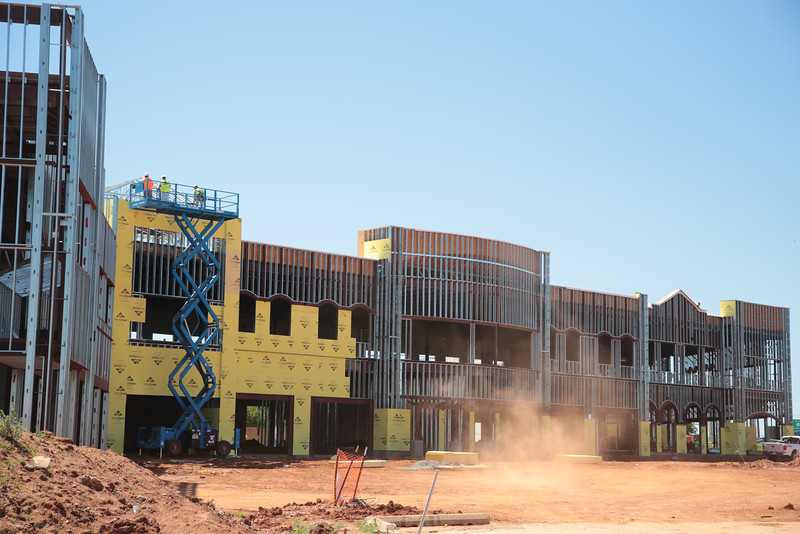 Construction of new retail space at NW Memorial Road and May Ave in Oklahoma City, OK.