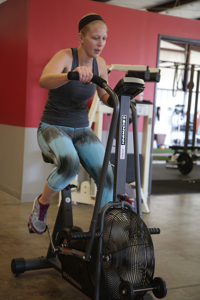 Nicole Sukenis doing circut training at 5th Quarter Performance licated at 8209 N Western Ave in Oklahoma City.