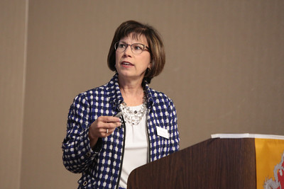 Karen Rieger, Crowe & Dunlevy health care attorney, explains how hospitals can write contracts that meet federal guidelines for newly hired physicians. Crowe & Dunlevy held its 26th annual health care update conference at the Embassy Suites Downtown/Medical Center Tuesday.