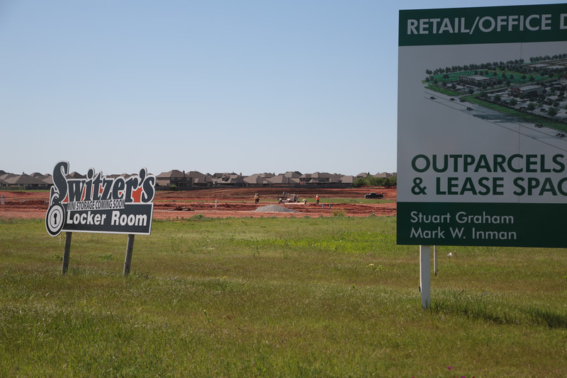 Construction of new retail and office space has started at the corner of NW 150th Street and Pennsylvania Ave in Oklahoma City.
