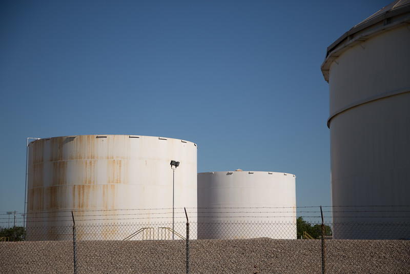 A oil tank facility in Oklahoma CIty owned by Magellen Midstream Partners, LP.
