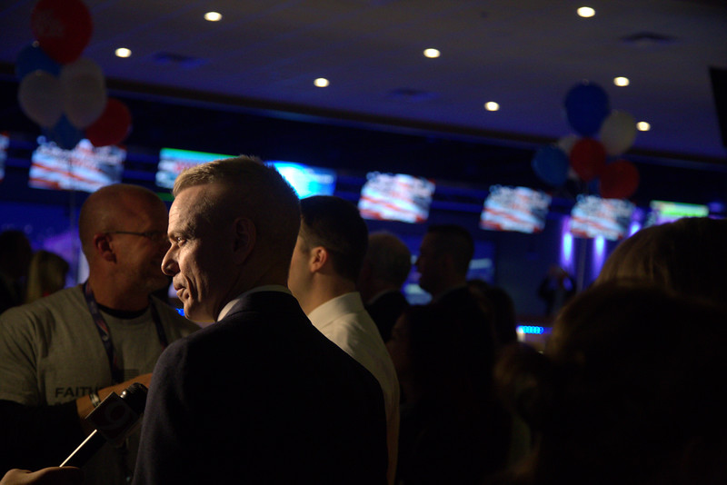 Rep Steve Russel at the Oklahoma Republican watch party being held at Main Event located at 1441 W Memorial in Oklahoma City.