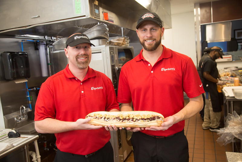Corey Little and Jeremiah Moyer of the first Capriotti's Sandwich Shop in Oklahoma located at 14600 N Penn in Oklahoma City.
