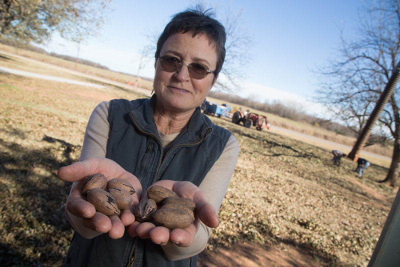 Diane Couch, owner of Couch Pecan Farm in Luther, OK.