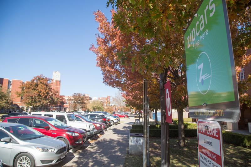 ZipCar at the University of Oklahoma in Norman, OK.