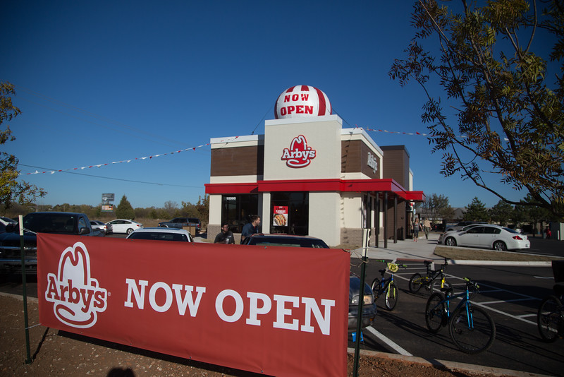 A new Arby's location at SW 104th Street and May Ave in Oklahoma City, OK.