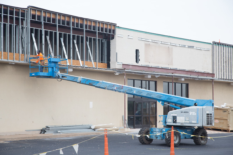 Wiggin Construction is remodeling a former Homeland Grocery store at 2201 W Edmond Road in Edmond, OK.